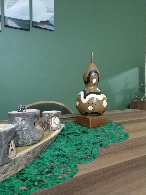 su kabağı özel tasarım masa lambası