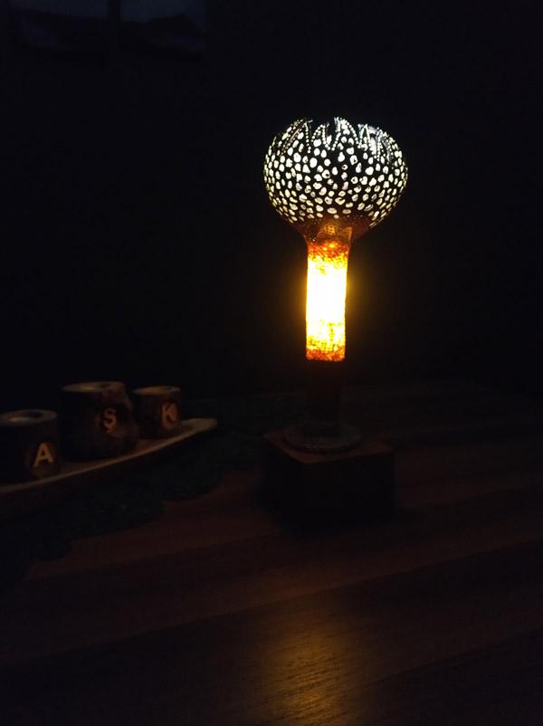 özel tasarım su kabağı lamba modelleri