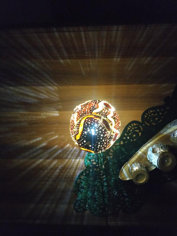 ışıklı dekoratif led gece su kabağı lamba