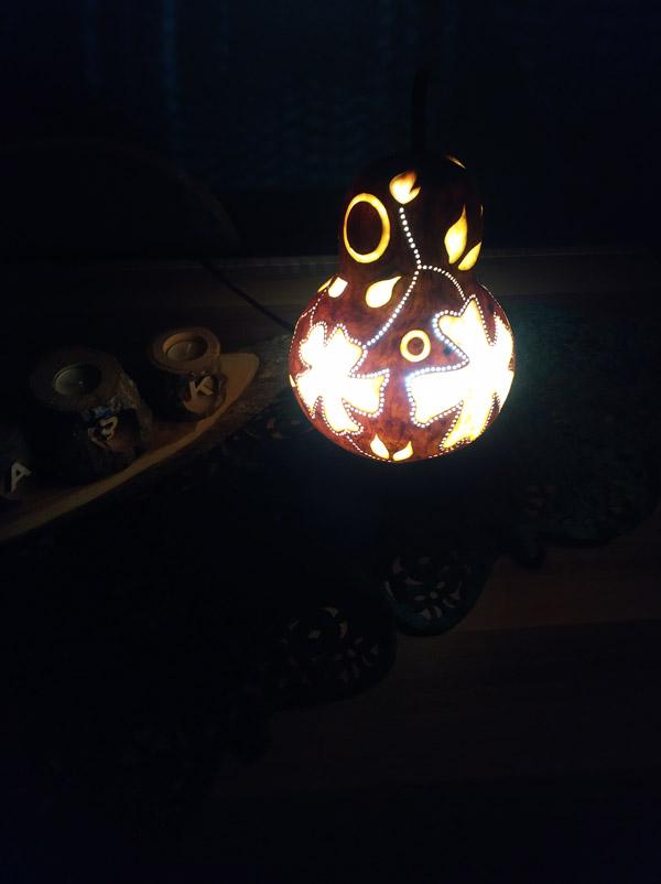 su kabağı dekoratif otantik aydınlatma lamba