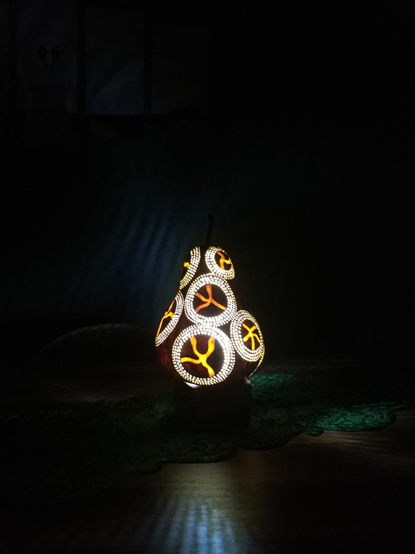 su kabağı ışıklı gece lambası