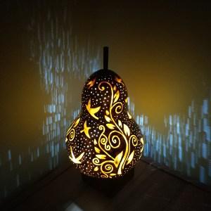 su kabağı tasarım lamba