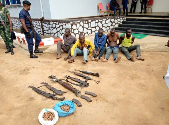 Ituri : 5 hommes armés arrêtés par la Police