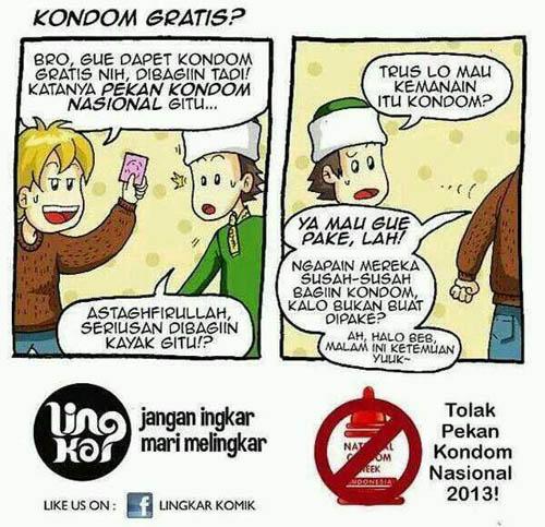 Komik tolak Pekan Kondom Nasional