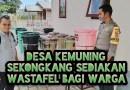 Desa Kemuning Sekongkang Serahkan Wastafel Tempat Cuci Tangan Untuk Warga
