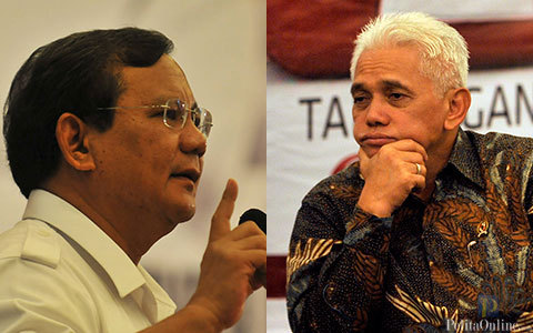 Prabowo Subianto dan Hatta Rajasa. FOTO/PELITA
