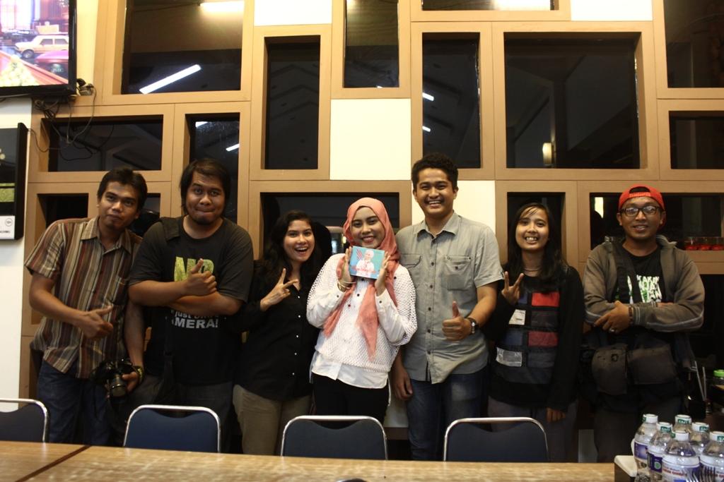 Vinnie Lupita saat Media Gathering bersama sejumlah awak media di RM Lamun Ombak, Kota Padang, Jumat (3/4).