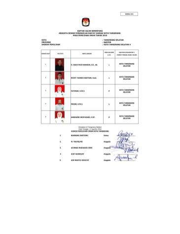 8 Partai Keadilan Sejahtera (DCS Anggota DPRD Tangsel Pemilu 2019)-5