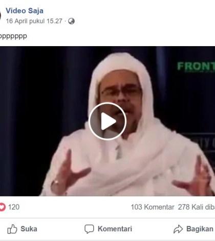 [SALAH] Habib Rizieq Shihab Serukan Coblos Jokowi