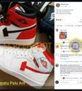 """[SALAH] Foto """"Hati hati kalo kita beli sepatu. Logo palu arit lambang PKI sudah bermuncululan"""""""