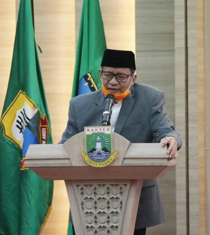 Gubernur Banten Wahidin Halim resmi membuka pelaksanaan Musabaqoh Tilawatil Qur'an (MTQ) ke-17 Tingkat Provinsi Banten tahun 2020 di Pendopo Gubernur Banten, Senin (10/08/2020)