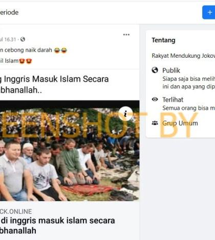 "[SALAH] ""3 Juta Orang Inggris Masuk Islam Secara Serentak"""