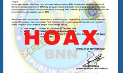 SALAH] Surat Penerimaan Pegawai BNN