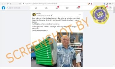 [SALAH] Bos Indo Maret, Yan Bastian (See Liam) dan Keluarga Meninggal Karena Kecelakan di Jalan Tol KM 91