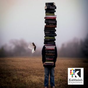 carrying books with logo