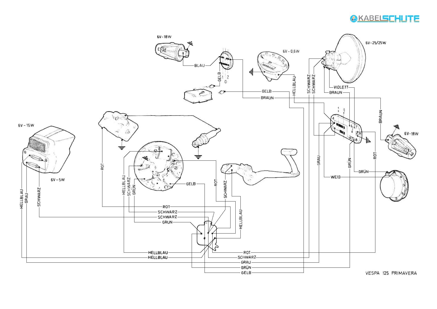 Schaltplan Vespa Px Alt Ohne Batterie