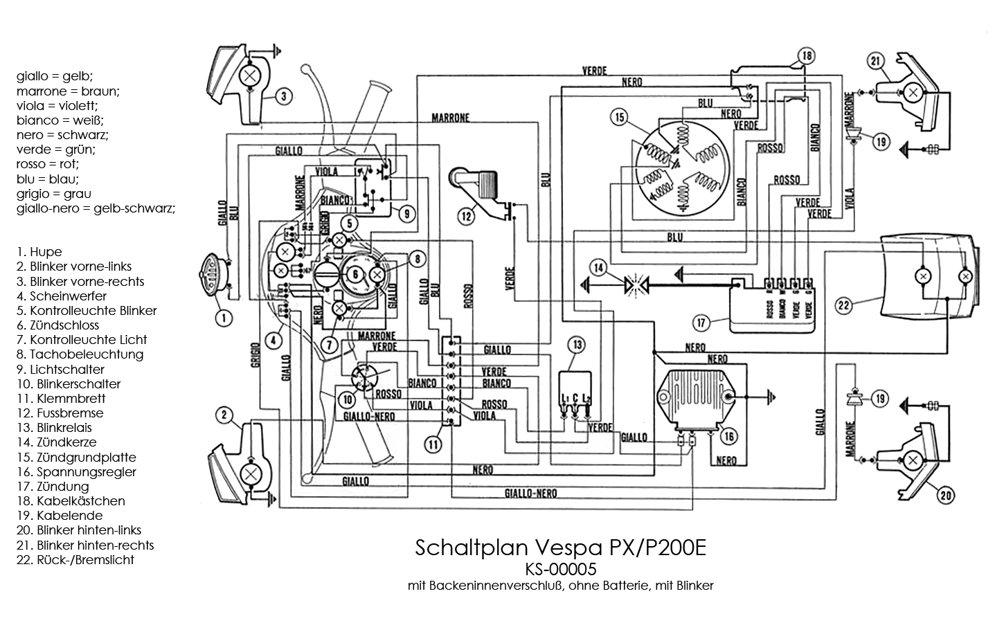 Vespa Px Wiring Diagram 23 Wiring Diagram Images