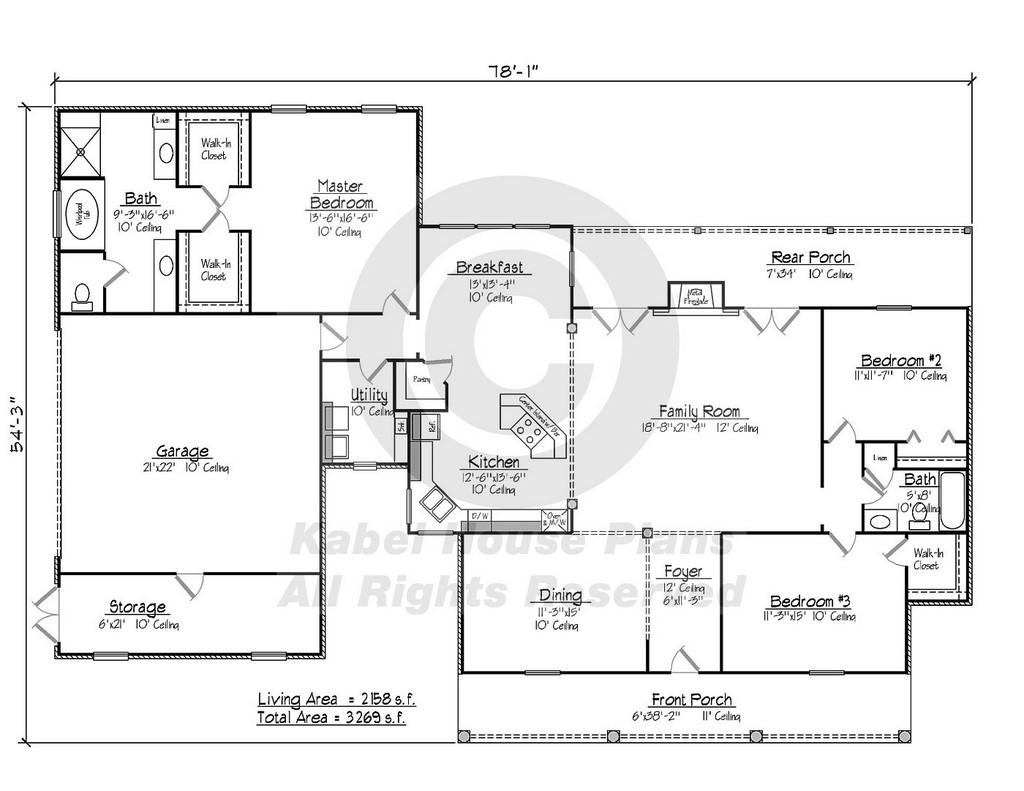Best Kitchen Gallery: Azalea Kabel of Louisiana Plantation Home Plans on rachelxblog.com