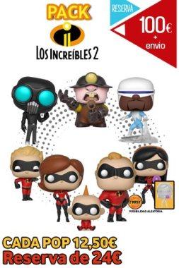 Funko Pop PACK LOS INCREÍBLES 2
