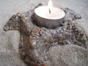 Подсвечник из песка Sea Star .