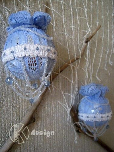 Елочные шары ручной работы Zefir Blue