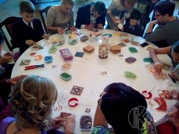 мозаика на свадьбе рига