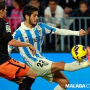 Isco Displaying Terrific Ball Control with Malaga Courtesy: Malaga Club De Futbol