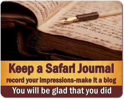 Safari Memories - Keeping an African Safari Journal