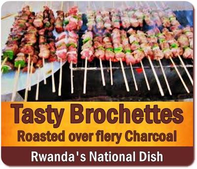 Brochettes - the National Dish of Rwanda