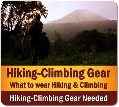 What to wear and bring on Hiking - Climbing Safaris
