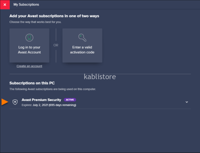 Activating Avast Premium Security (Multi-Device)