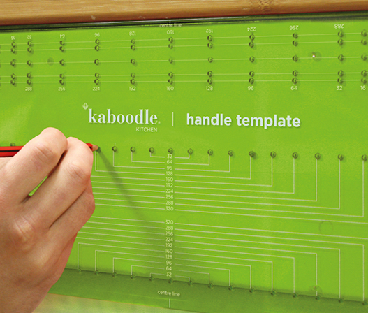 Handle Drilling Template Kaboodle Kitchen