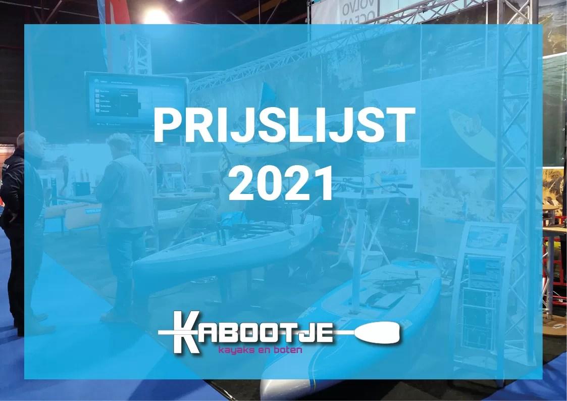 Prijslijst 2021 - Kabootje