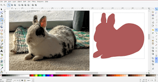 from photo to svg Geronimo the bunny silhouette by kabram krafts