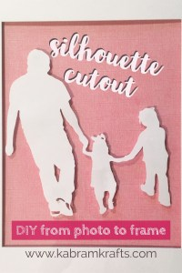 Custom Silhouette Cutout DIY from photo to frame kabramkrafts.com
