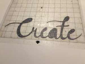 create cut in glitter cardstock