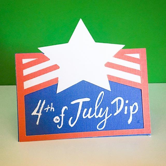 4th of July Dip Name Card