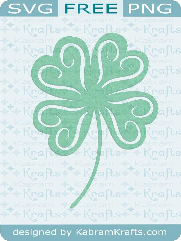 Free Svg Four Leaf Clover For St Patrick S Day Kabram Krafts