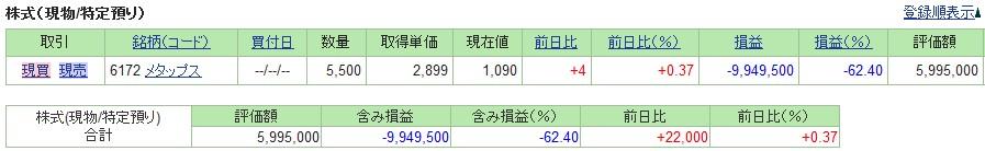 20190614_日本株SBI証券評価損益