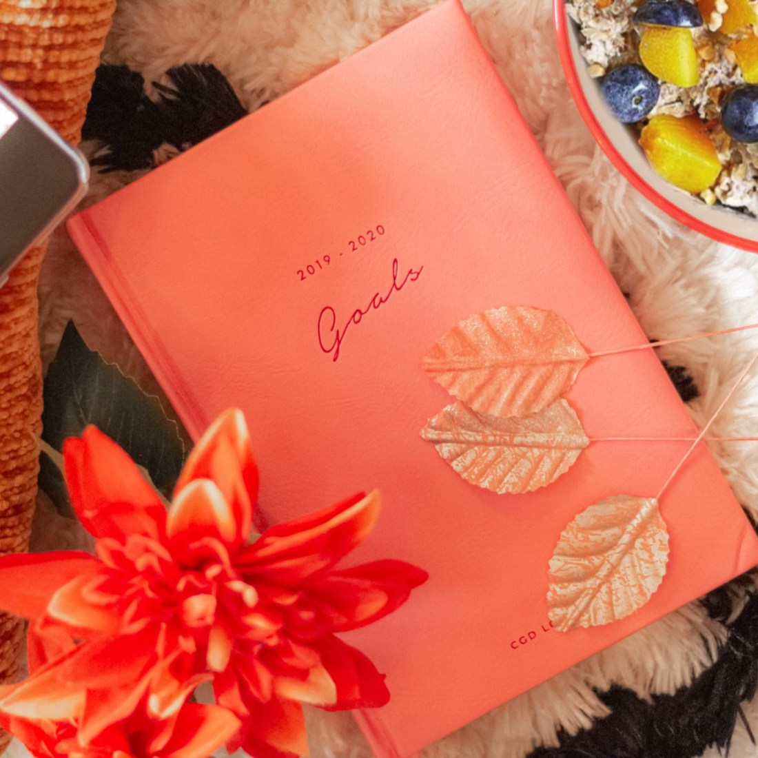 autumn themed flatlay with planner