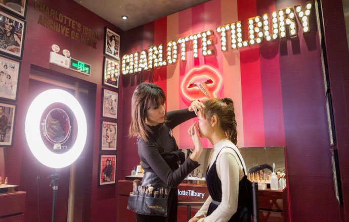charlotte tilbury being tested in china