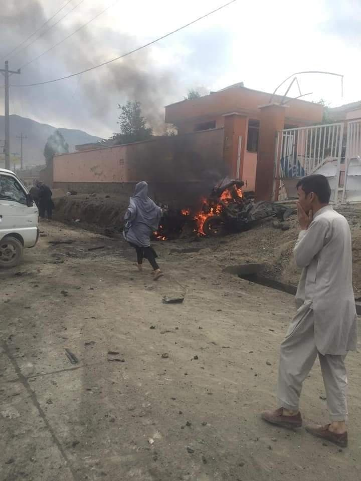 explosions in Kabul