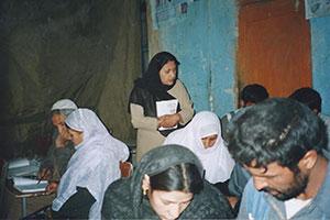 Roqia Center adult literacy class