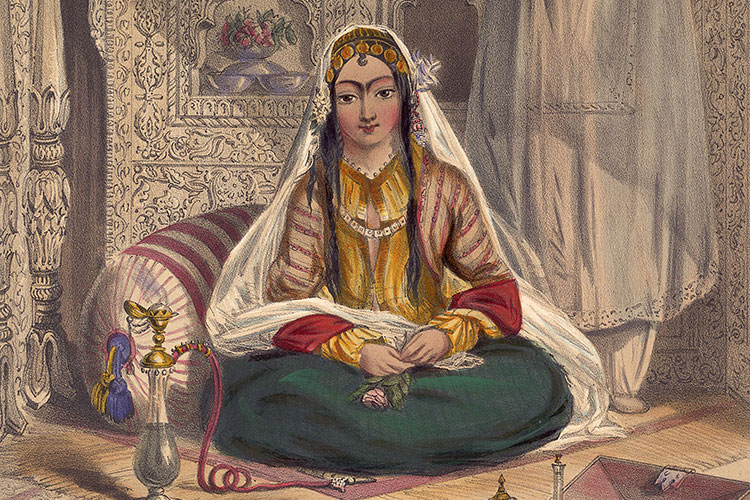 Painting: Afghan lady in Kabul