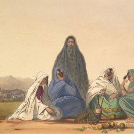 Ghilzai nomad women of Afghanistan in 1839-42.