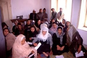 Women's literacy class in Kabul, 2002