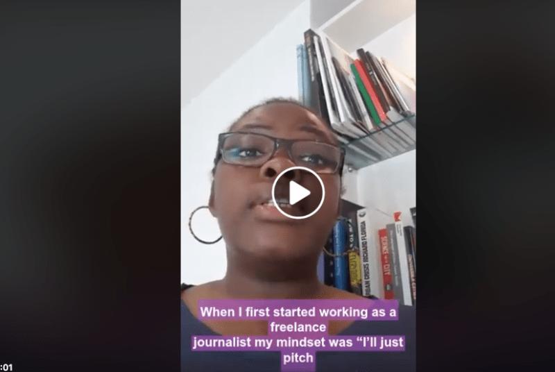 Beatrice Ngalula Kabutakapua talking on facebook communication audience