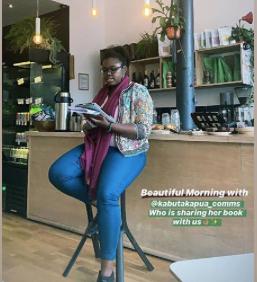 reading book in London Beatrice Kabutakapua