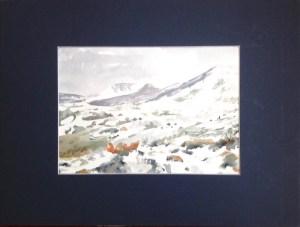 """Nevicata"" a watercolor painting"