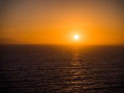 Sunset over Gulf of Naples